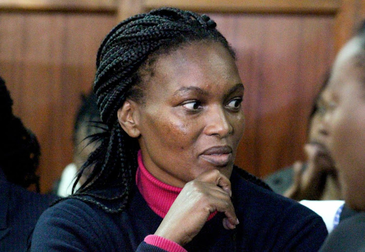 Sarah Wairimu the wife to the slain Dutch tycoon Tob Cohen at the Milimani law court in Nairobi on September 12, 2019.
