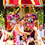 Ratha Yatra Köln 2018_7 by Svetlana Saenkova - City,  Street & Park  Street Scenes ( red, monks, white, chariot, gods, ratha yatra,  )