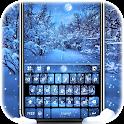 Snowfall Live HD Keyboard Background icon