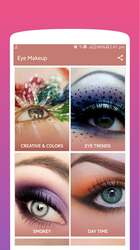New Eye Makeup Tutorial App screenshot