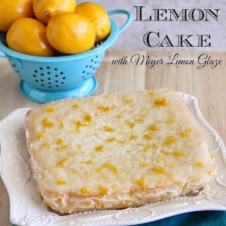 Meyer Lemon Cake with Meyer Lemon Glaze