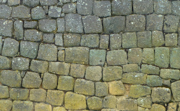 "Photo: Inca ""B"" masonry"": wall made with mortar"