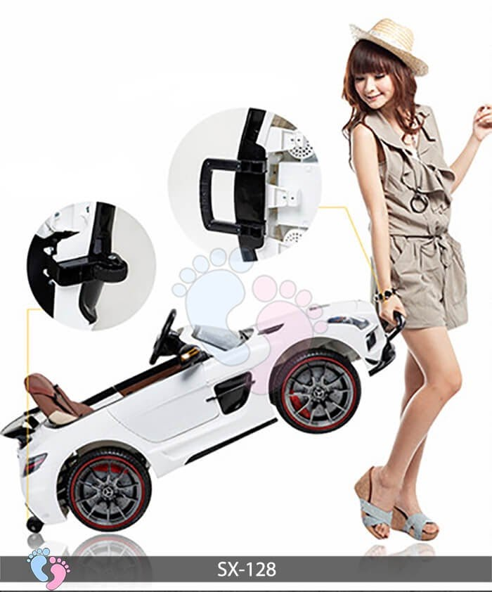 Xe hơi điện trẻ em SX-128 ghế da 17