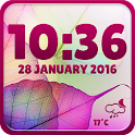 Transparent Clock and Weather icon