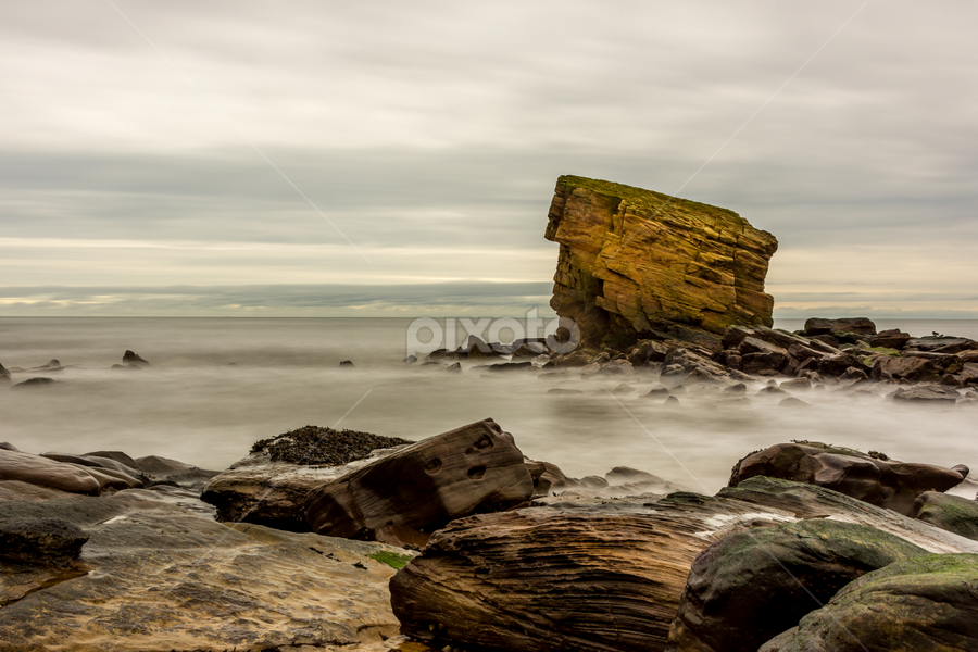 Charley`s Garden by Phil Reay - Landscapes Waterscapes ( collywell bay, sea, long exposure, charleys garden, rocks,  )