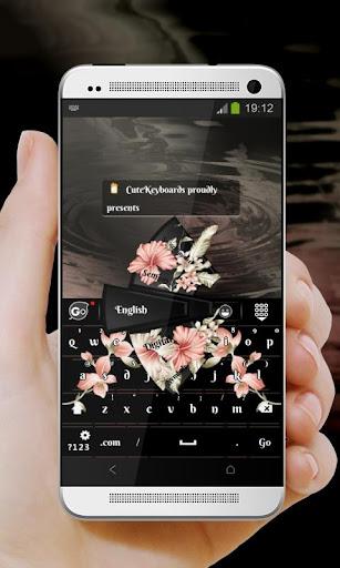 優雅的黑色 GO Keyboard