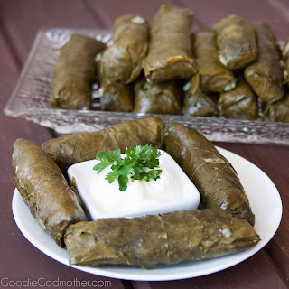 Stuffed Grape Leaves… not dolmades!