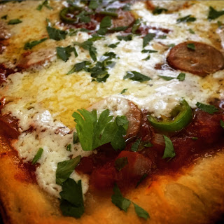 Spicy Italian Sausage and Honey Pizza