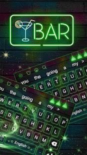 Zelená neonová klávesnice Téma - náhled