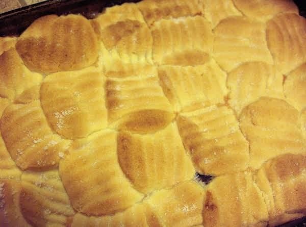 Apple Cranberry Cookie Cobbler