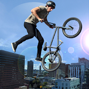 Rooftop Stunt Man Bike Rider