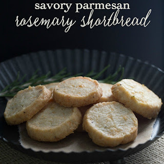 SavoryParmesan Rosemary Shortbread.