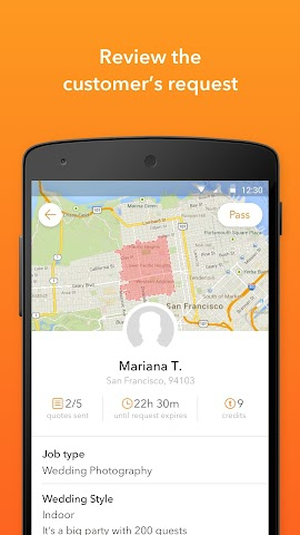 android Thumbtack for Professionals Screenshot 1