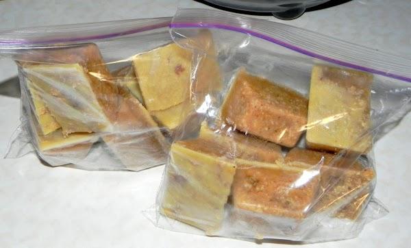Store in plastic bags in freezer.