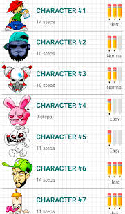 グラフィティキャラクターの描き方