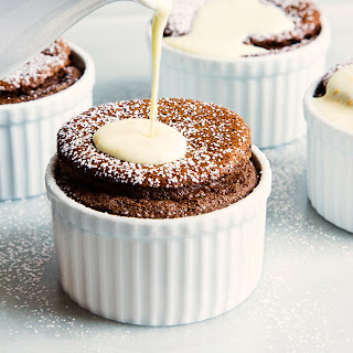 Chocolate Soufflés with Orange Sauce