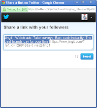 Photo: Click the Twitter share button to tweet out this simple invitation.
