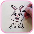 How to Draw a Cartoon Bunny icon