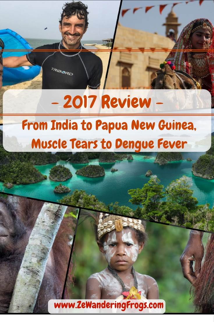 #2017 Review: From #India to #PapuaNewGuinea, Muscle Tears to #Dengue Fever / #AdventureTravel by Ze Wandering Frogs