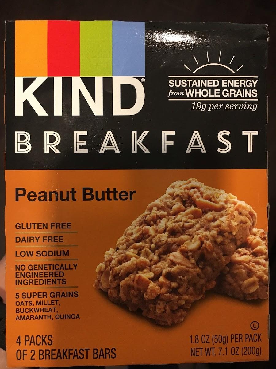 Breakfast Bars, Peanut Butter