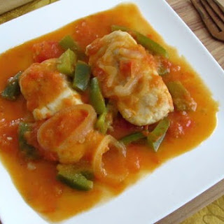 Fish In Tomato Sauce With Green Pepper
