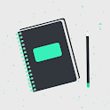 Diary, Journal, Notes with Lock: Universum icon