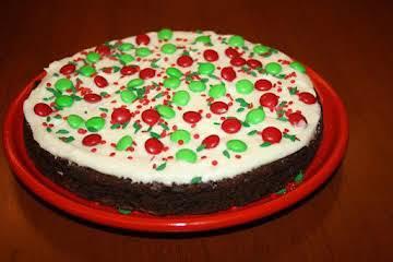 Christmas Brownie cake