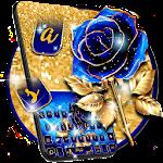 Luxury Blue Rose Keyboard Theme Icon