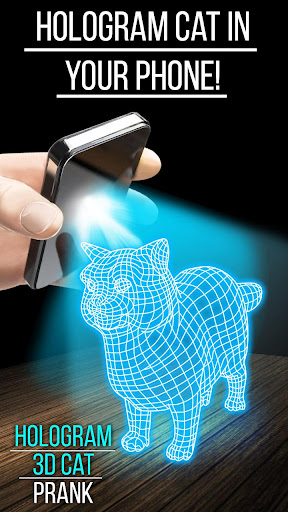 ホログラム3Dキャットいたずら