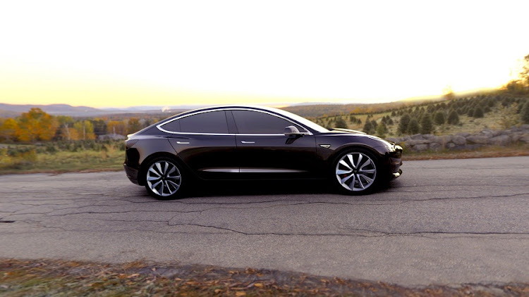 Tesla's mass-market Model 3 electric car. Picture: SUPPLIED
