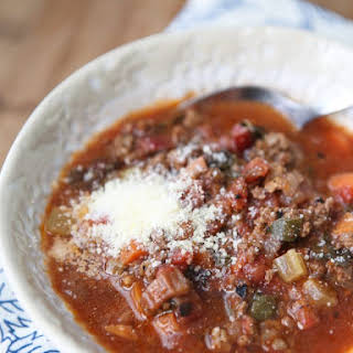 Beef and Tomato Vegetable Soup.