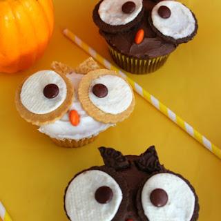 Fall Owl Cupcakes