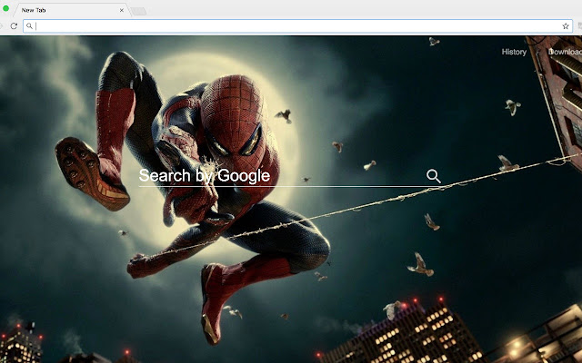 Wallpaper Spider Man New tab page