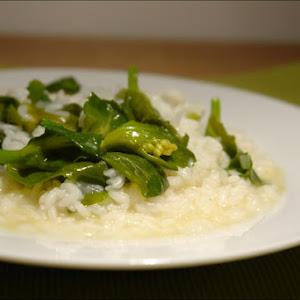 Mom's Turnip Greens & Rice