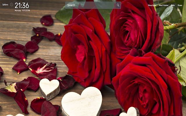 Rose Flowers Images Wallpapers NewTab Theme