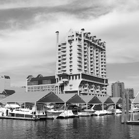 The Coeur d'Alene Resort, Idaho by Gregg Landry - Buildings & Architecture Office Buildings & Hotels ( black and white, pwcbuilding,  )