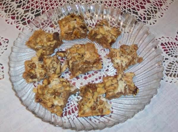 Coconut Cinnamon Nut- Cookie Squares