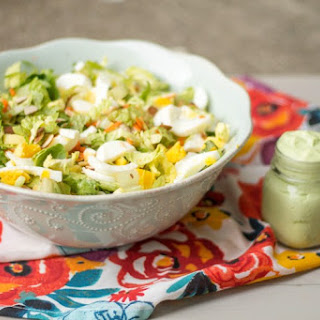 Chopped Salad and Avocado Yogurt Dressing.