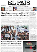Photo: Mas ofrece un pacto estable a ERC para impulsar su plan soberanista, el respaldo a Palestina en la ONU divide al Gobierno y la sanidad pública de Madrid planta cara a la privatización, en la portada de EL PAÍS del 27 de noviembre de 2012. http://srv00.epimg.net/pdf/elpais/1aPagina/2012/11/ep-20121127.pdf