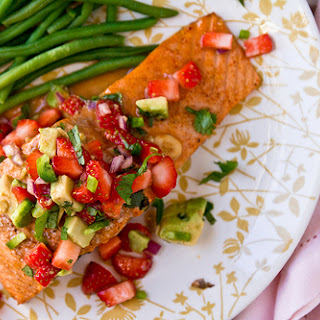 Salmon with Strawberry Avocado Salsa