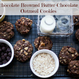Amazing Chocolate, Oatmeal, Cranberry, Browned Butter, Chock-Full-of-Awesome-Cookies