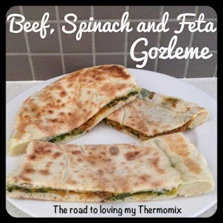 Beef, Spinach and Feta Gozleme.