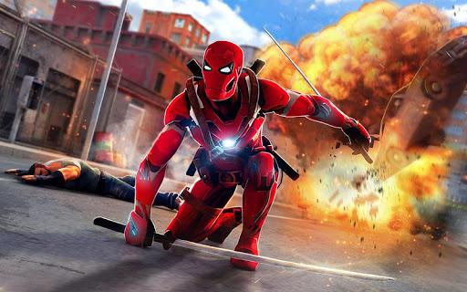Superhero Ninja Battle: Streets Fighting Robot Socem 25 Screenshots 7