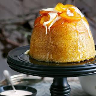 Steamed Pudding With Caramelised Orange.
