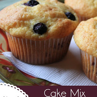 Cake Mix Blueberry Muffins.