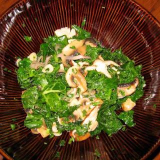 Steamed Kale with Mushroom Medley