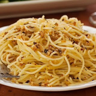 Lemon and Toasted Hazelnut Spaghetti