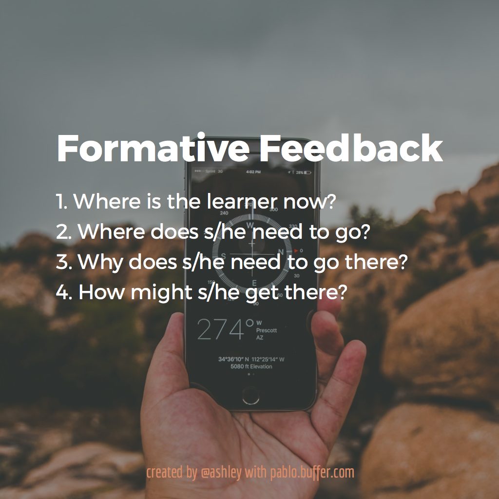 Three questions for formative feedback.