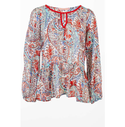 Paisley Blouse Red - Pernilla Wahlgren