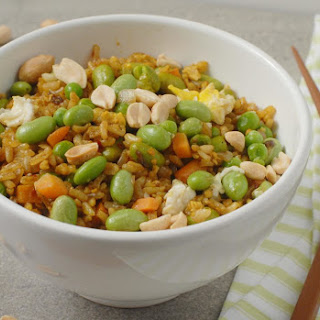 Turmeric Fried Rice with Edamame.